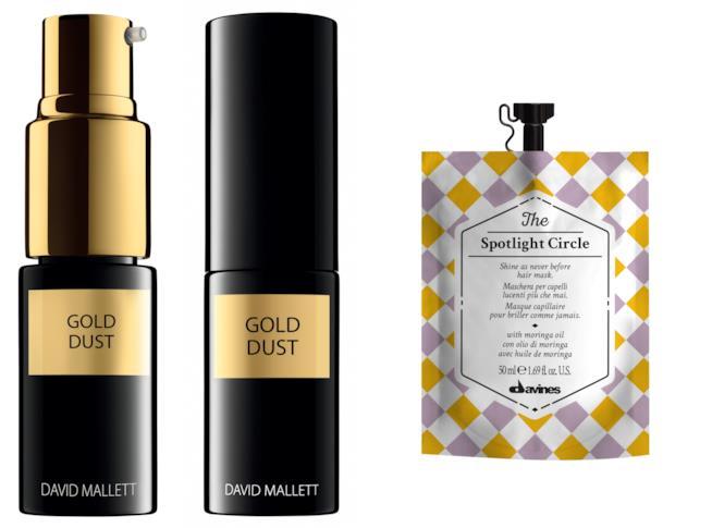 Gold Dust di David Mallett e maschera capelli di davines