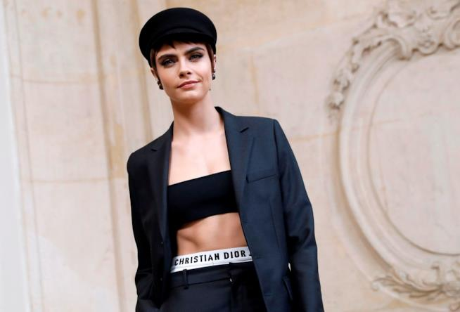 Cara Delevingne alla sfilata Dior