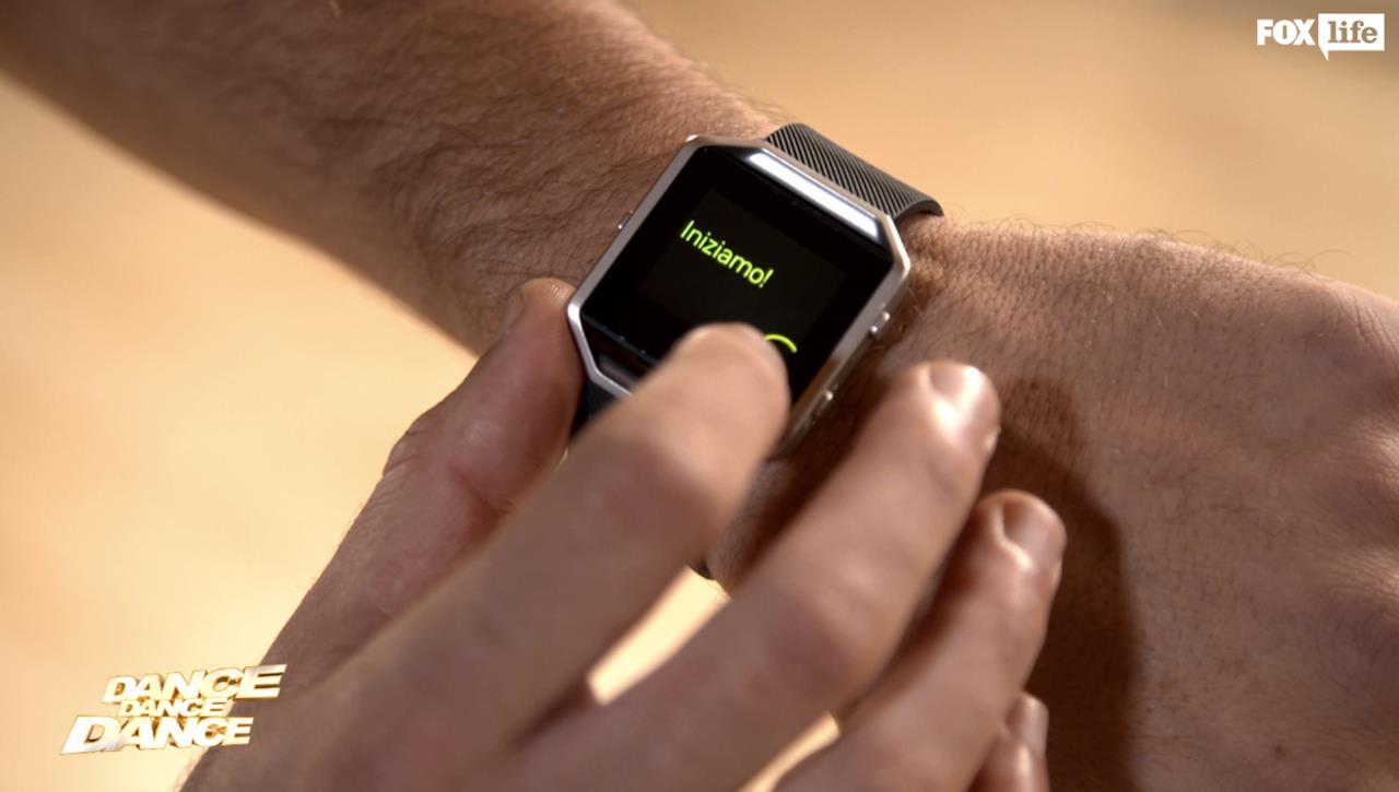 Si iniziano le prove con il Fitbit per il sesto serale