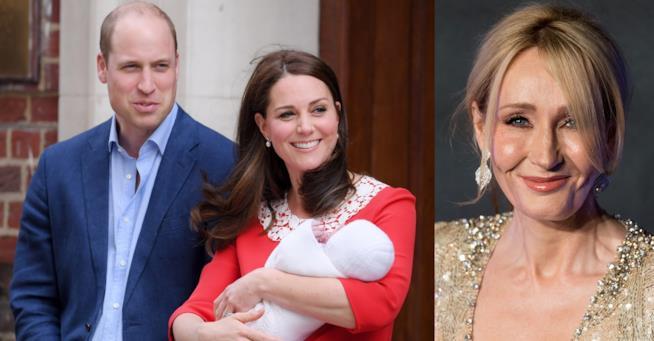 William e Kate con il terzo figlio e J. K. Rowling