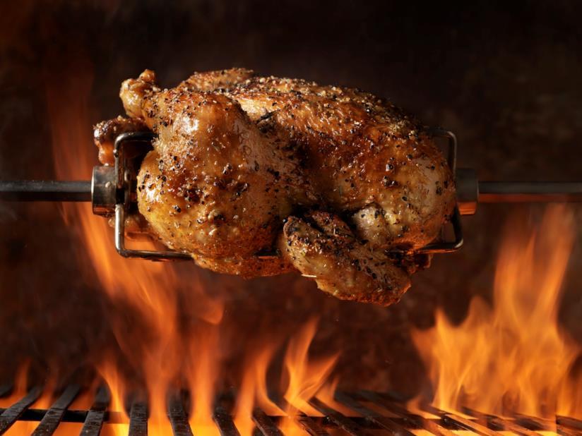 Pollo cotto allo spiedo