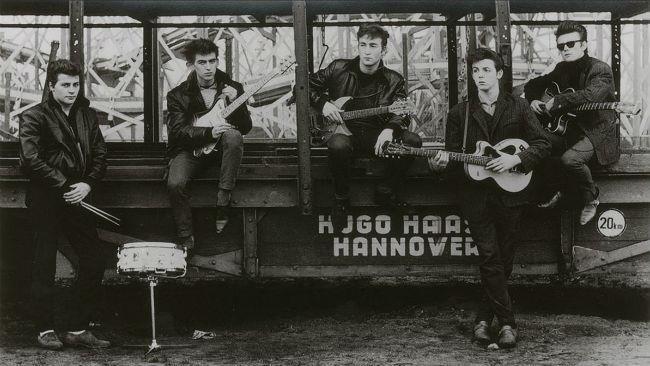 Una foto tratta dalla mostra Astrid Kirchherr With The Beatles