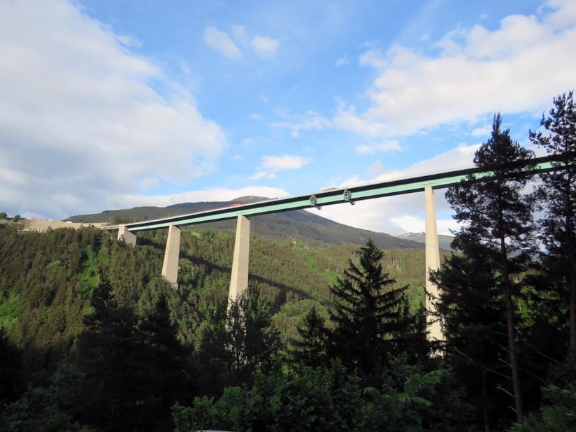 Il viadotto Ponte Europa vicino a Innsbruck.