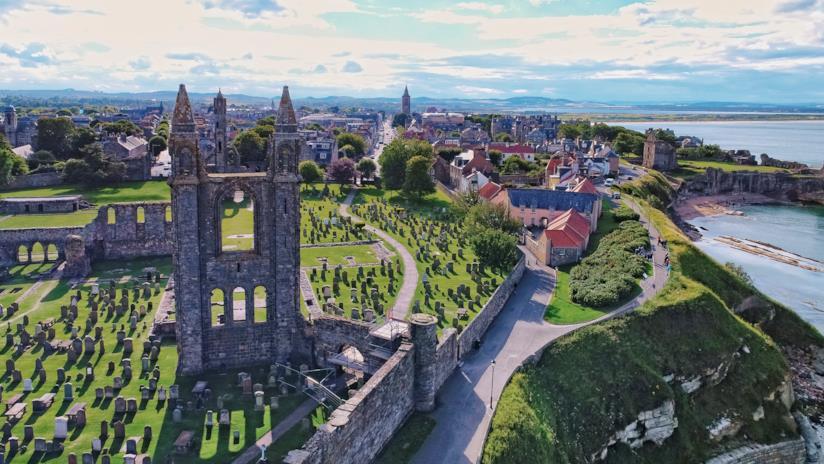 Vista della Cattedrale di Saint Andrews