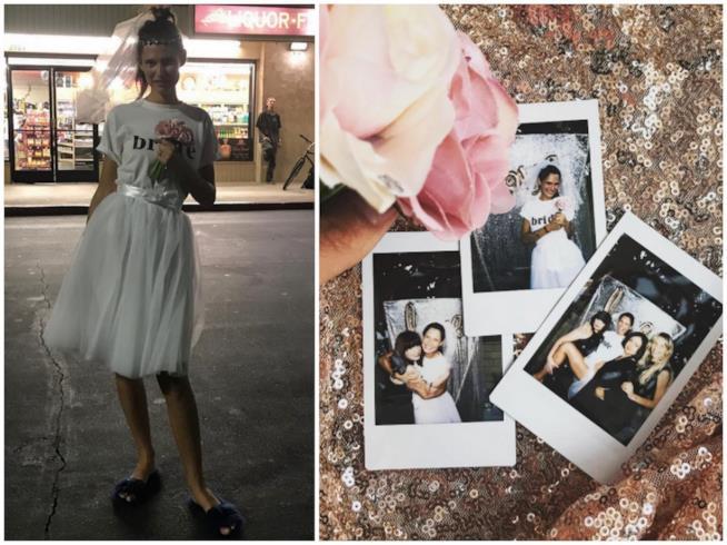 Alcuni scatti dell'addio al nubilato di Bianca Balti