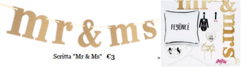 Scritta d'oro Mr & Mrs