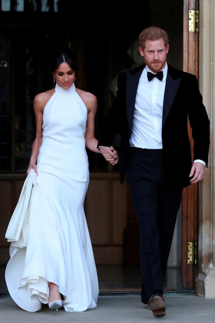 Meghan Markle e Harry al ricevimento del matrimonio