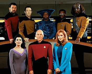 Il cast di Star Trek: The Next Generation