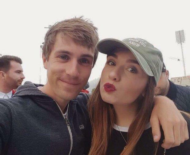 Selfie di Issie con il suo ragazzo