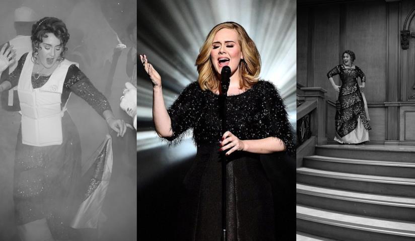 Adele che canta e al compleanno dei 30 anni