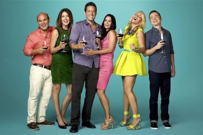 Il cast di Cougar Town in una foto promozionale