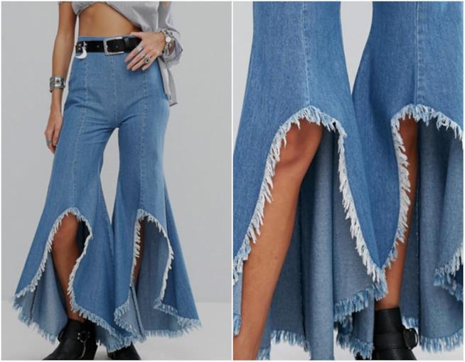Jeans Flare strappati di Asos