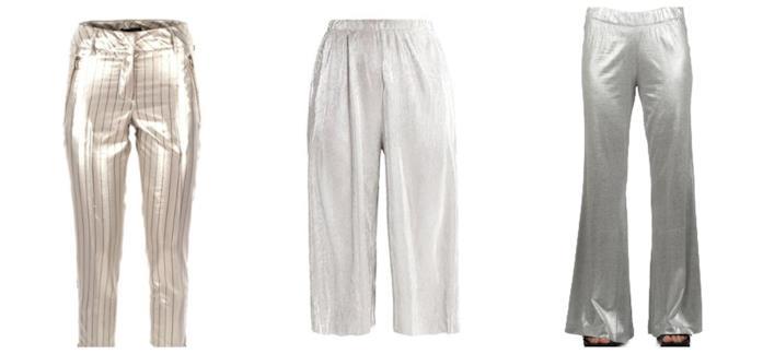 In argento, i pantaloni per l'estate 2018