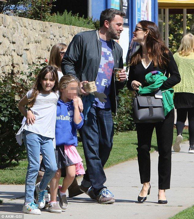 Ben Affleck e Jennifer Garner con i loro figli
