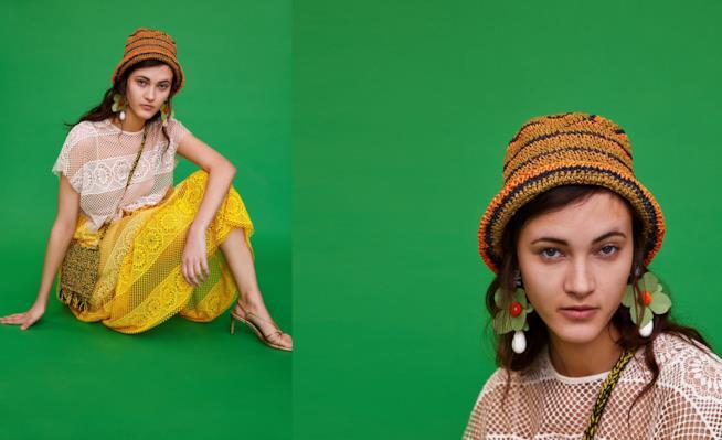 Collage di punti di vista dell'abito in pizzo Zara