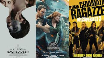 Poster di Il sacrificio del cervo sacro, Jurassic World 2 e Pitch Perfect 3