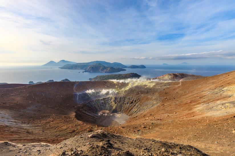 Il Gran Cratere di Vulcano nelle isole Eolie