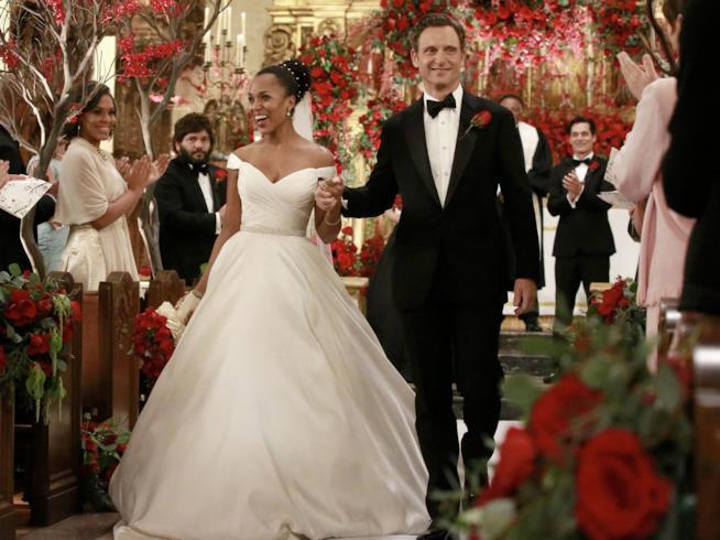 Olivia Pope in abito da sposa