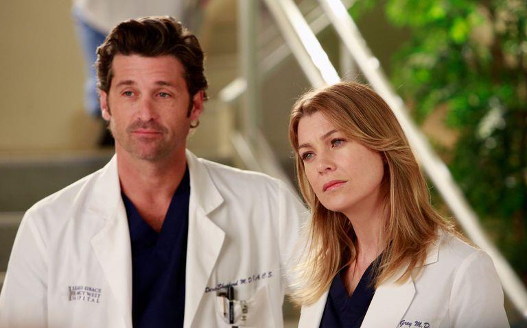 Patrick Dempsey ed Ellen Pompeo in una scena di Grey's Anatomy