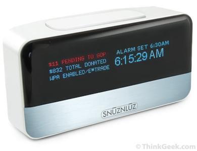 SNŪZ-N-LŪZ - Donation Alarm Clock