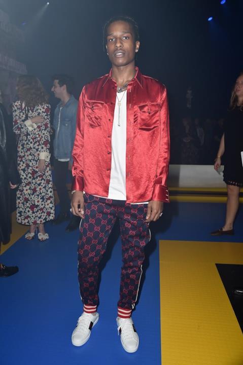 A$AP Rocky a un evento Gucci