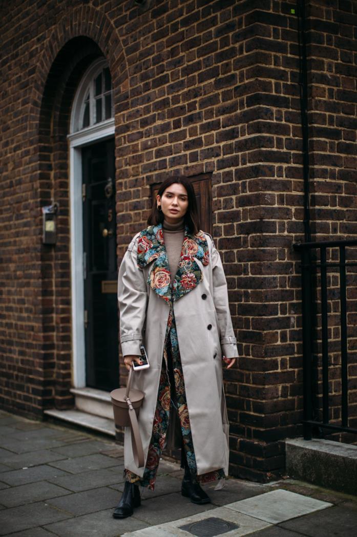 Streetwear London Fashion Week Impermeabile over