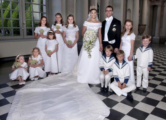 Victoria di Svezia e Daniel Westling sposi