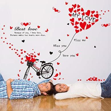 Adesivi murali romantici
