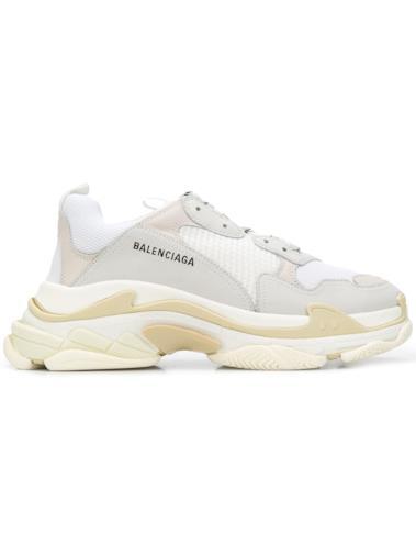 Sneaker Triple S total white da donna