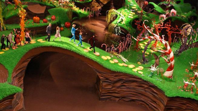 La visita dei bambini nella fabbrica di cioccolato di Willy Wonka