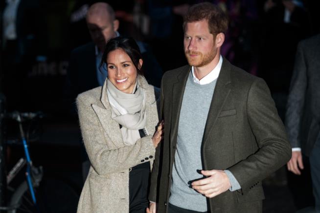 Meghan e Harry durante la loro ultima apparizione pubblica