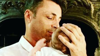 Alex Britti e il figlio Edoardo su Instagram