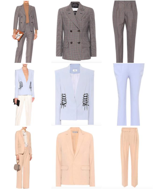 Collage di tailleur giacca pantaloni