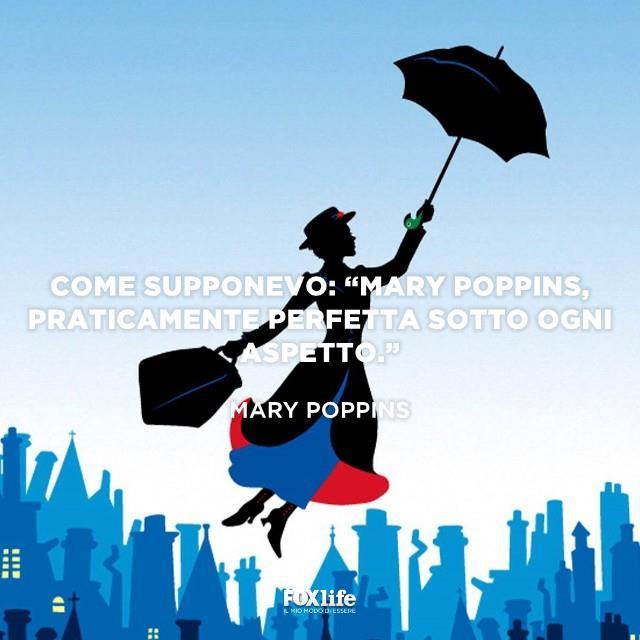 Figura stilizzata di Mary Poppins che vola