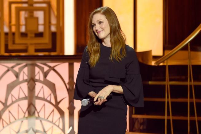 Julianne Moore, che riceverà il Franca Sozzani Award, ad un evento