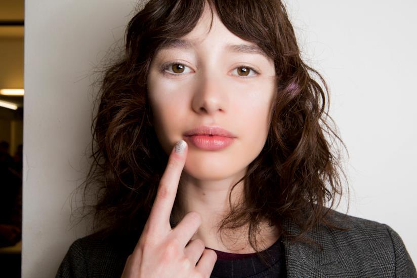Nail art french con i glitter