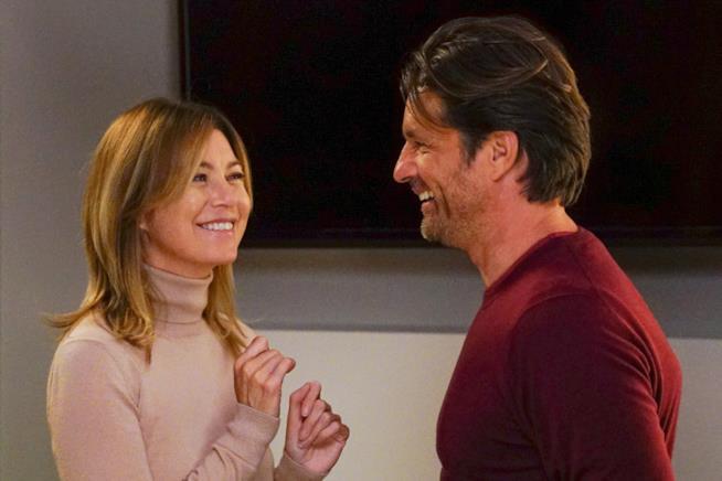 Meredith e Nathan in una scena di Grey's Anatomy