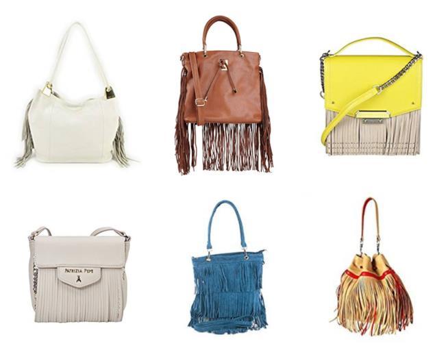 Frange a profusione, le borse di moda per l'autunno 2018