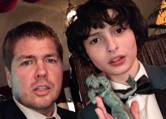 Tyler Grasham e Finn Wolfhard in una foto recente