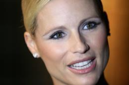 Michelle Hunziker in primo piano