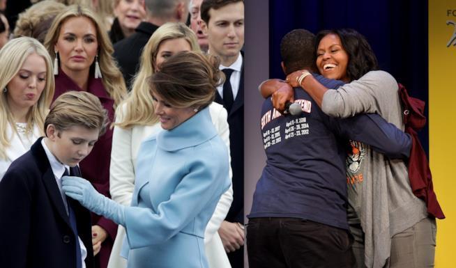 Melania Trump e Michelle Obama