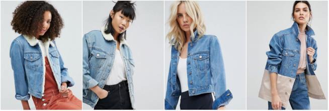 Collage di giacche di jeans Asos