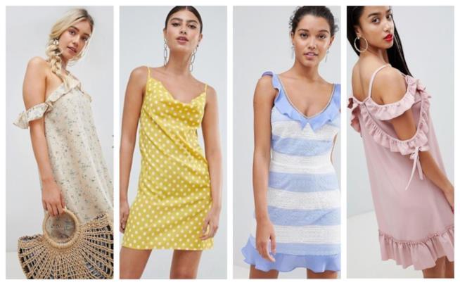 Gli slip dress, vestiti in stile lingerie moda estate 2018
