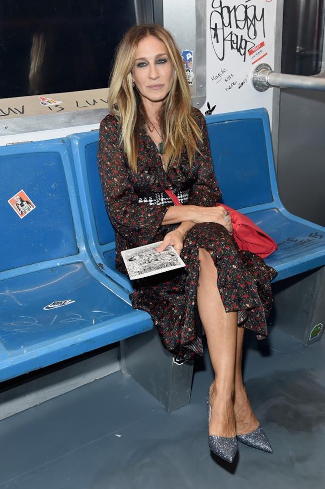 Sarah Jessica Parker in metropolitana