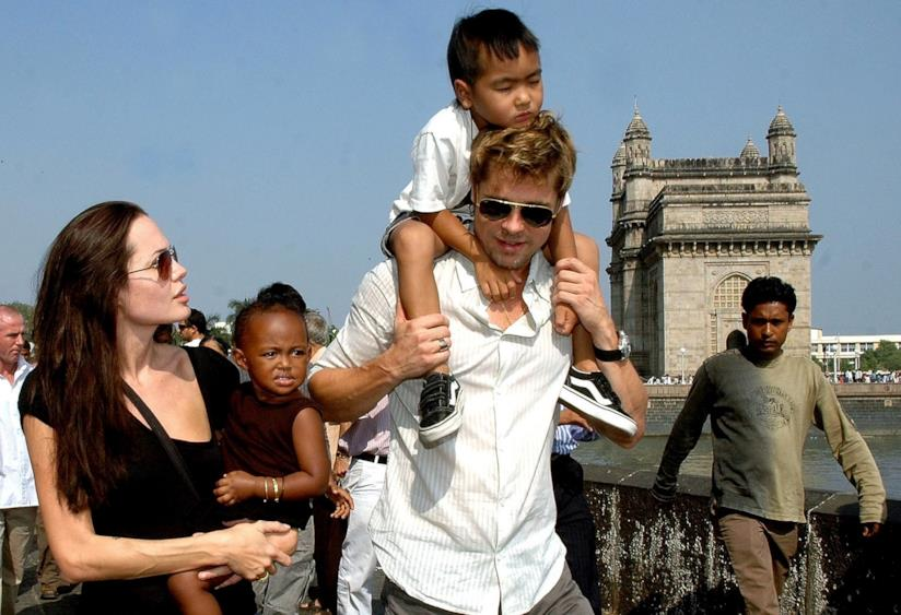 Angelina Jolie e Brad Pitt in vacanza