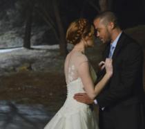 April e Jackson in una scena di Grey's Anatomy
