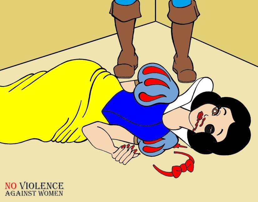 Un immagine della campagna contro la violenza sulle donne di aleXsandro Palombo