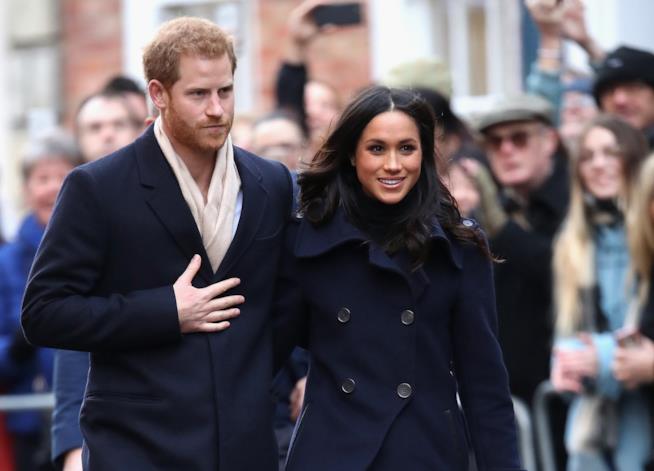 Il Principe Harry con l'attrice Meghan Markle
