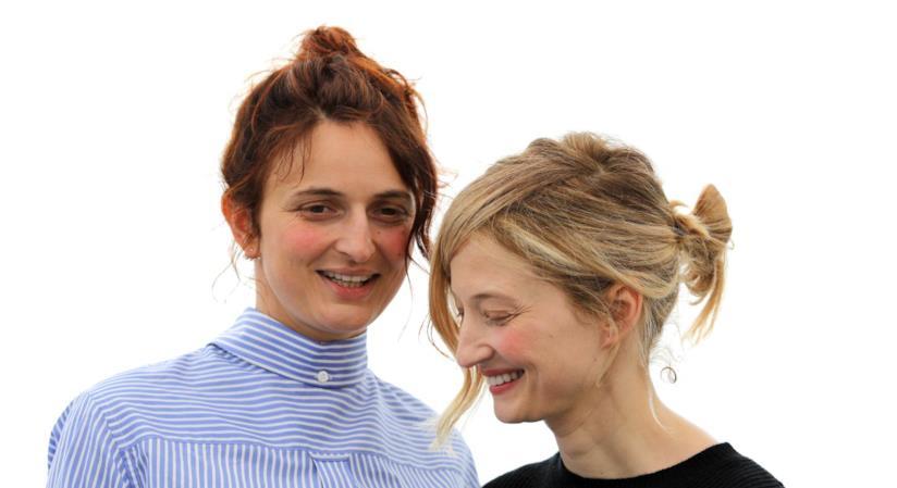 Un'immagine di Alice e Alba Rohrwacher a Cannes