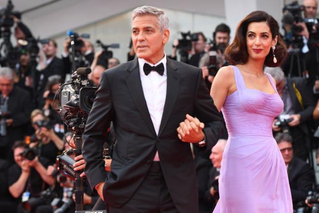 George Clooney con la moglie Amal Alamuddin a Venezia 74